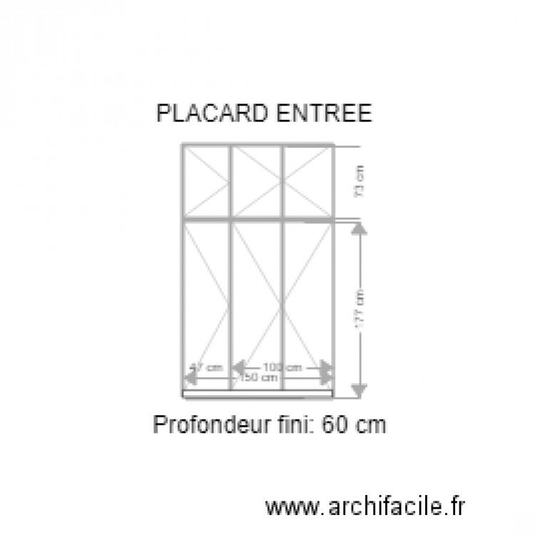 placard entr e broncard ext rieur plan 5 pi ces 3 m2. Black Bedroom Furniture Sets. Home Design Ideas