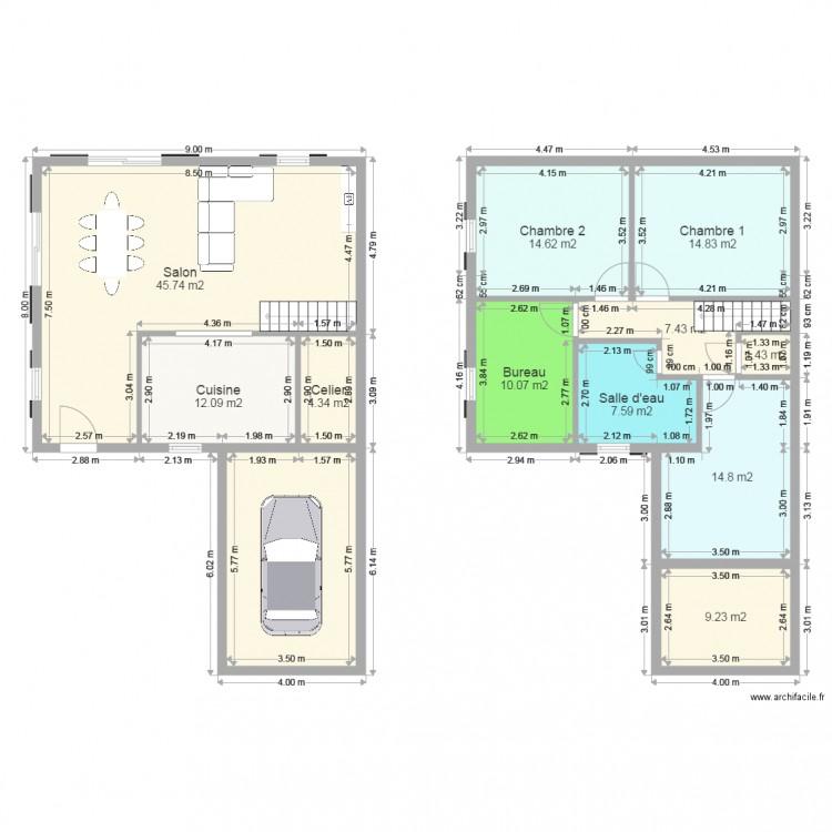 Maison varenne plan 12 pi ces 162 m2 dessin par maati77 for 162 plan