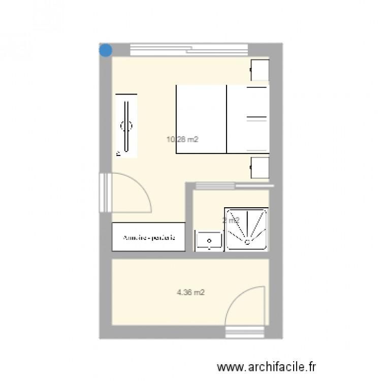 Assez amenagement garage - Plan 3 pièces 17 m2 dessiné par fck27 FS59