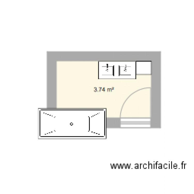 Salle de bain plan 1 pi ce 4 m2 dessin par annamatata for Salle de bain 4 m2