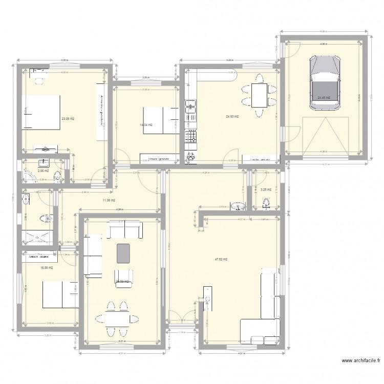 Ma maison plan 10 pi ces 195 m2 dessin par iskendar13 for Dessine ma maison gratuitement