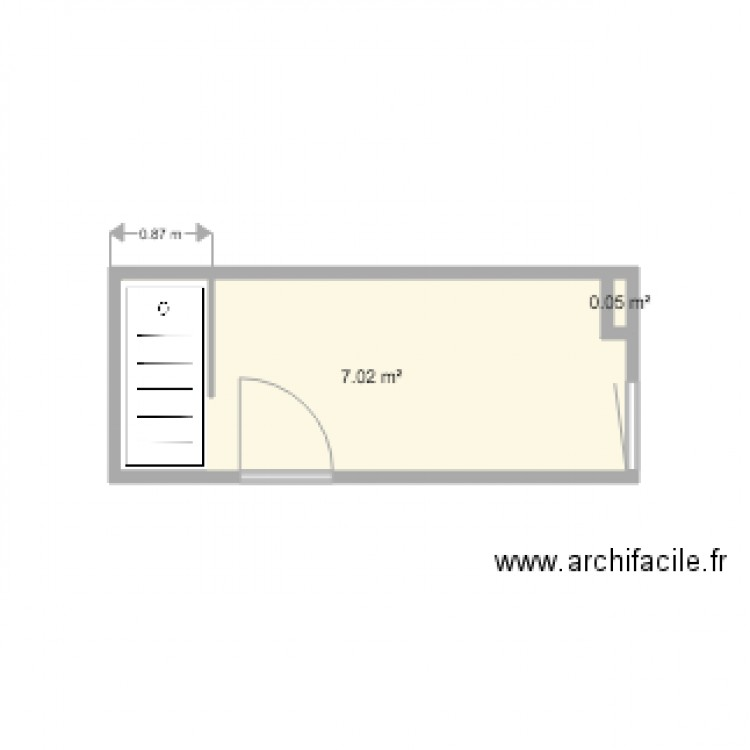 salle de bains plan 2 pi ces 7 m2 dessin par pierrelanfrey. Black Bedroom Furniture Sets. Home Design Ideas