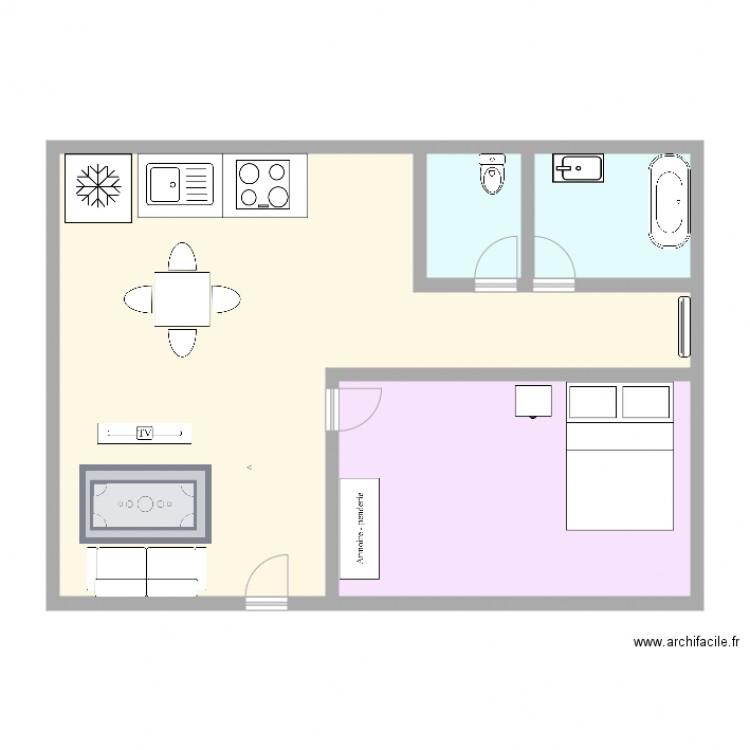 Simulation plan 4 pi ces 95 m2 dessin par wallkoming - Simulation plan maison ...