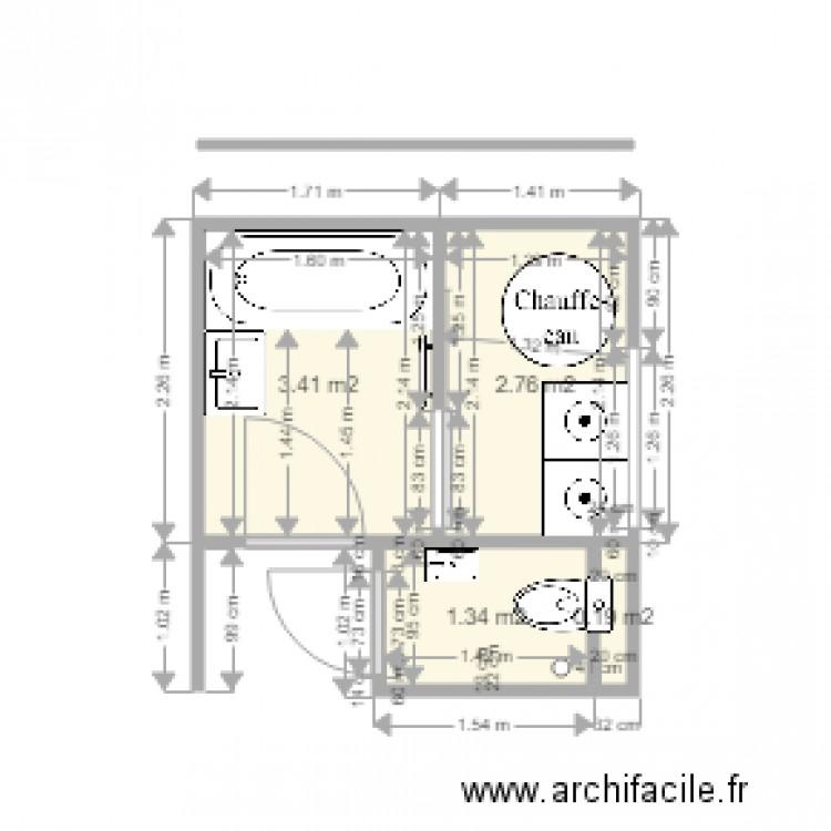 Salle de bain rdc derniere version 210416 plan 4 pi ces for Salle de bain 4 m2