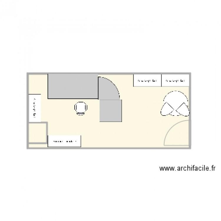 Bureau cit 2 plan 2 pi ces 15 m2 dessin par jeff33160 for Nombre de m2 par personne bureau
