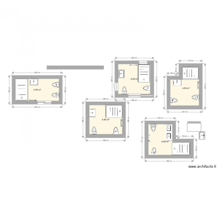 salle de bain moins de 5m carr plan 5 pi ces 25 m2