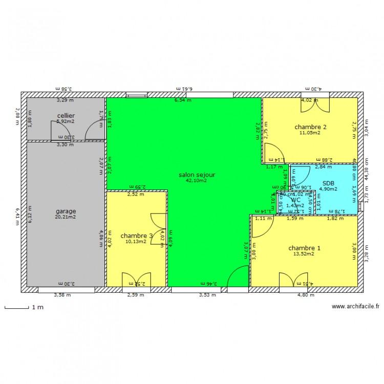 plan de maison 8 pièces