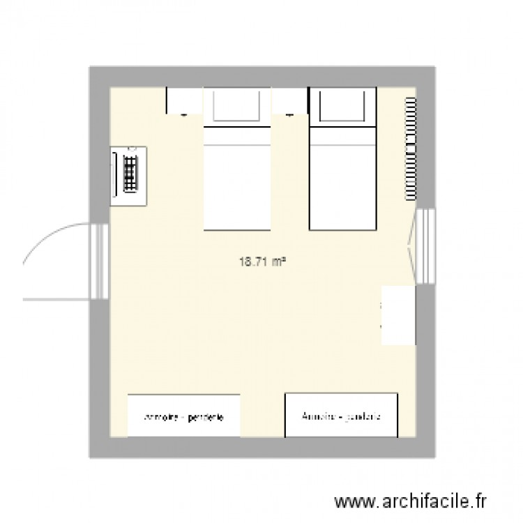 salle de bain plan 1 pi ce 6 m2 dessin par natpicka. Black Bedroom Furniture Sets. Home Design Ideas