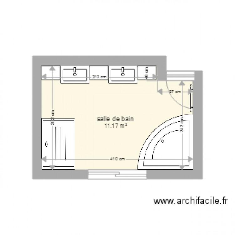 salle de bain plan 1 pi ce 11 m2 dessin par vcoucurou