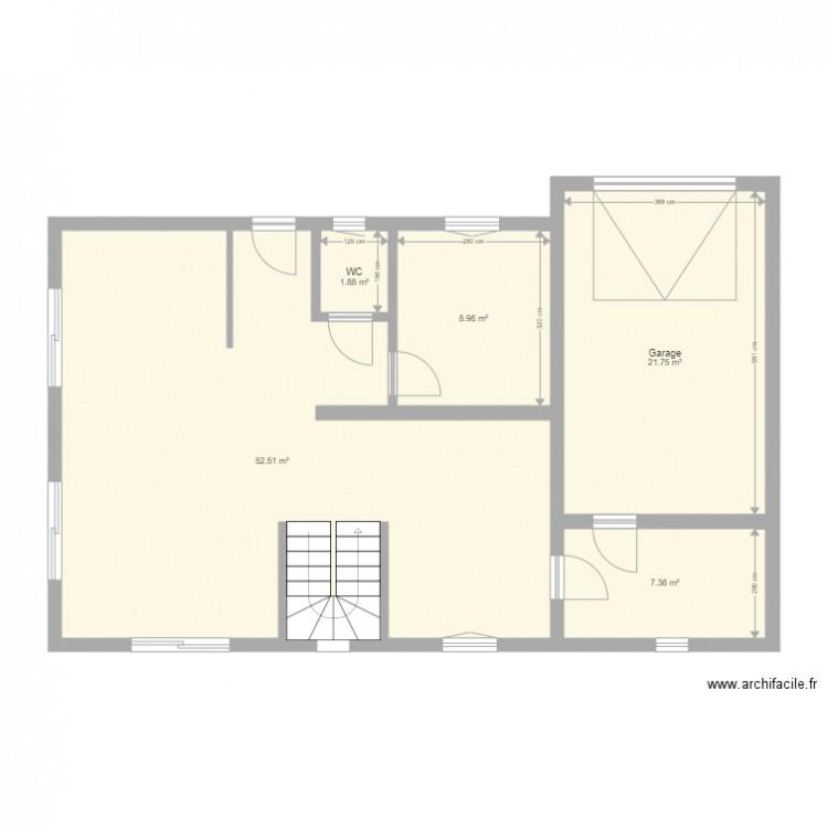 Maison plan 5 pi ces 92 m2 dessin par luno for Plan de maison 5 pieces