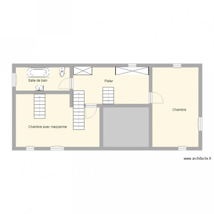 Crawford 17 11 09 maison 1er etage plan 5 pi ces 71 m2 dessin par - Plan de maison 2 pieces ...