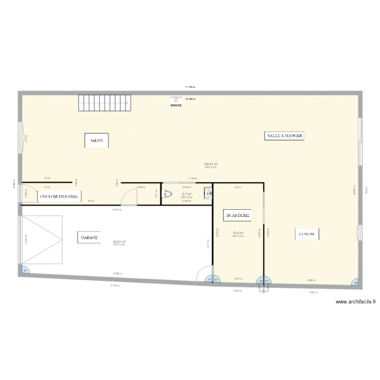 Maison choloy rdc chauffage au sol plan 4 pi ces 153 m2 for Chauffage watt par m2