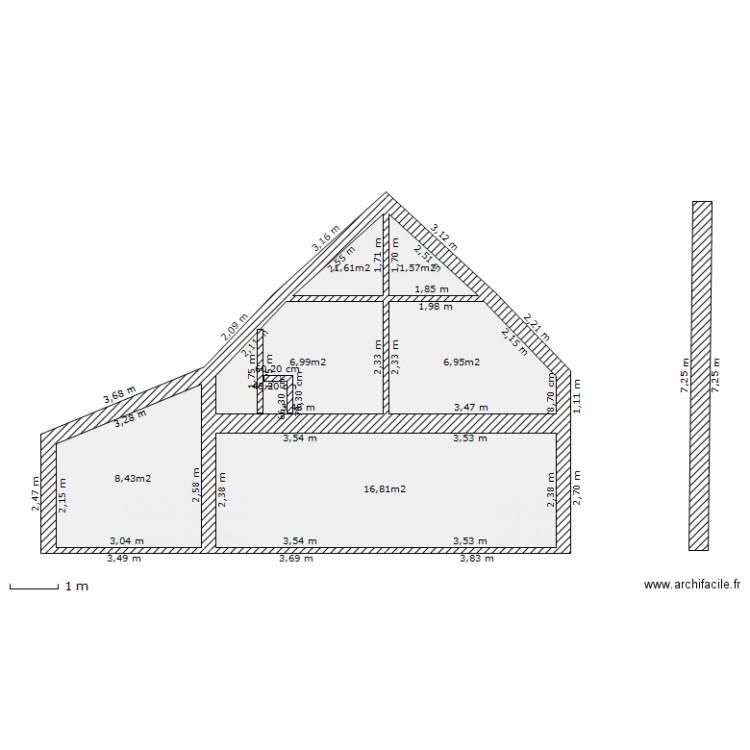 Plan Coupe Maison: Plan 6 Pièces 42 M2 Dessiné Par Jerome56360