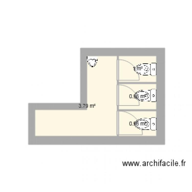 toilette peruys plan 4 pi ces 7 m2 dessin par manosque04. Black Bedroom Furniture Sets. Home Design Ideas