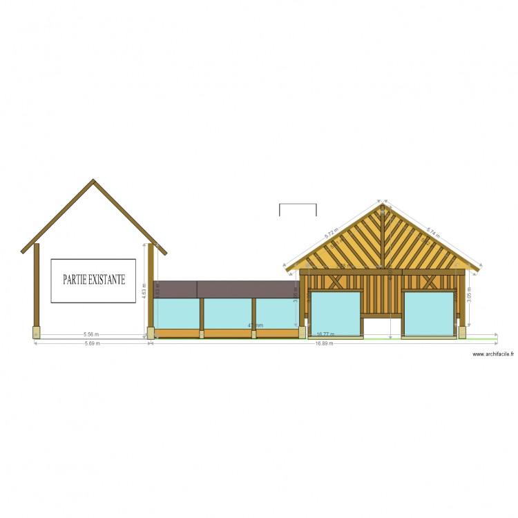 facade sud ouest 1 plan dessin par materiaux. Black Bedroom Furniture Sets. Home Design Ideas