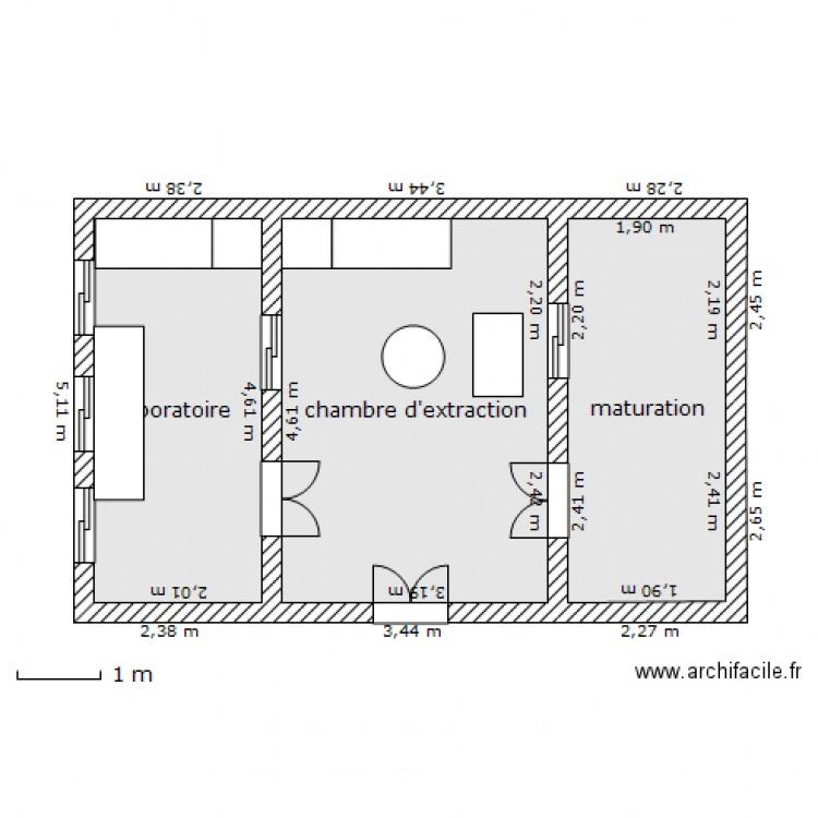 Miellerie Plan 3 Pi Ces 33 M2 Dessin Par Sjules