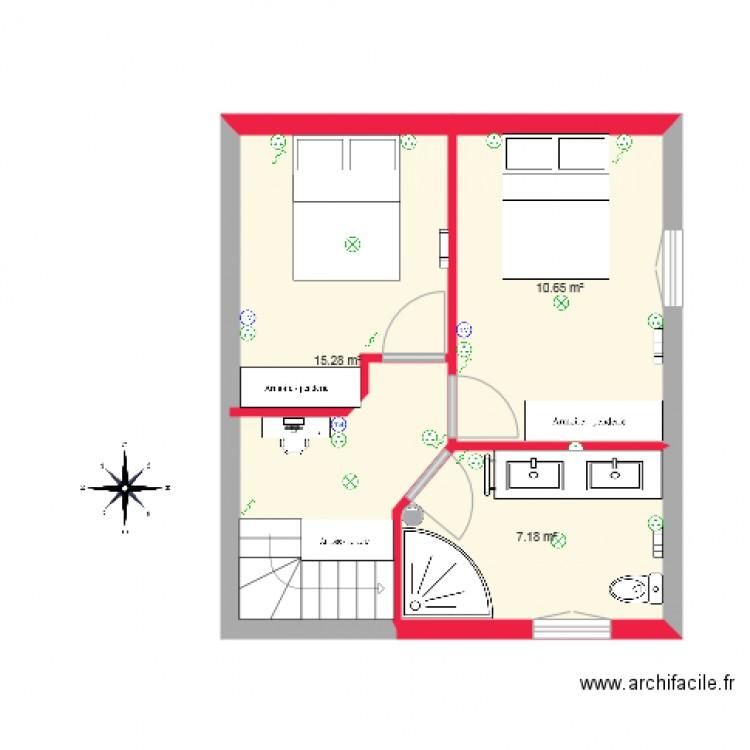Maison haut plan 3 pi ces 33 m2 dessin par gantheil - Consommation electrique moyenne maison 140 m2 ...