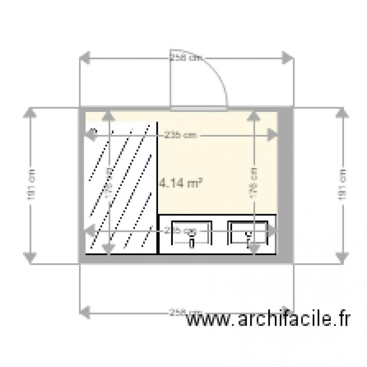 Salle de bain plan 1 pi ce 4 m2 dessin par denis3010 for Salle de bain 4 m2