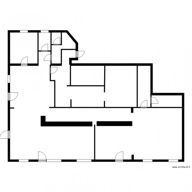 tabac genissac plan 4 pi ces 19 m2 dessin par rm3324. Black Bedroom Furniture Sets. Home Design Ideas
