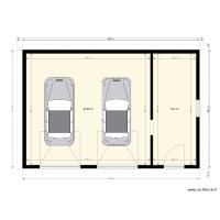 Plan double garage