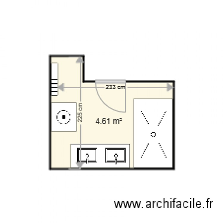 salle de bain nicolas plan 1 pi ce 5 m2 dessin par giovanilingenti. Black Bedroom Furniture Sets. Home Design Ideas