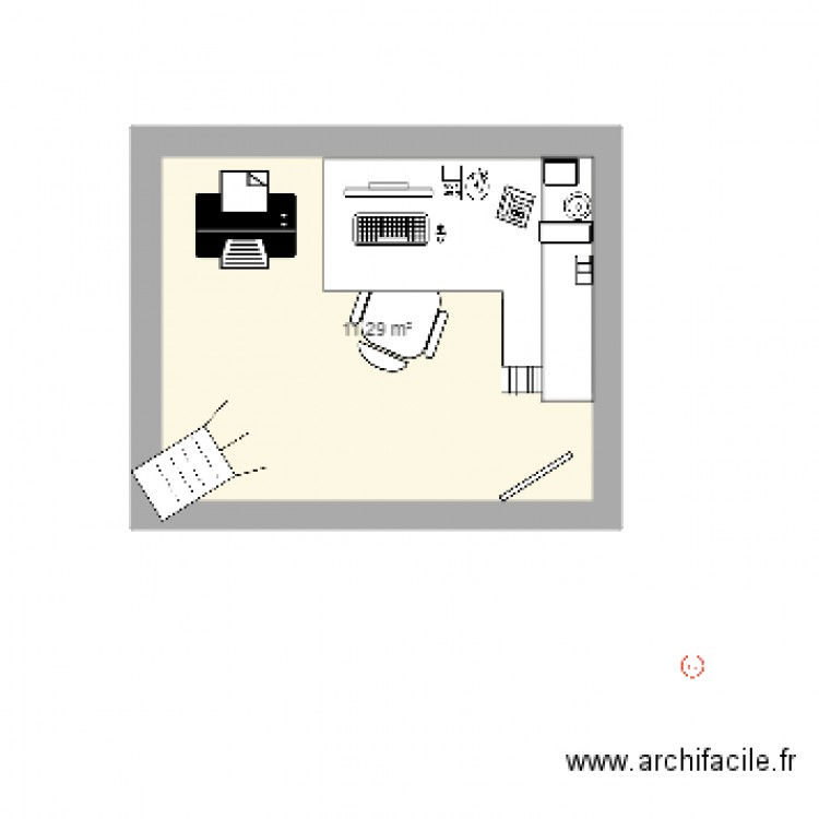 bureau stage plan 1 pi ce 11 m2 dessin par olivia83. Black Bedroom Furniture Sets. Home Design Ideas