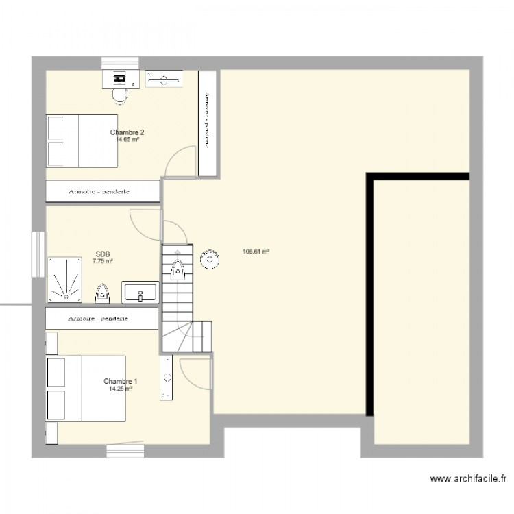 Maison 2eme etape plan 4 pi ces 143 m2 dessin par for 2eme hypotheque sur maison