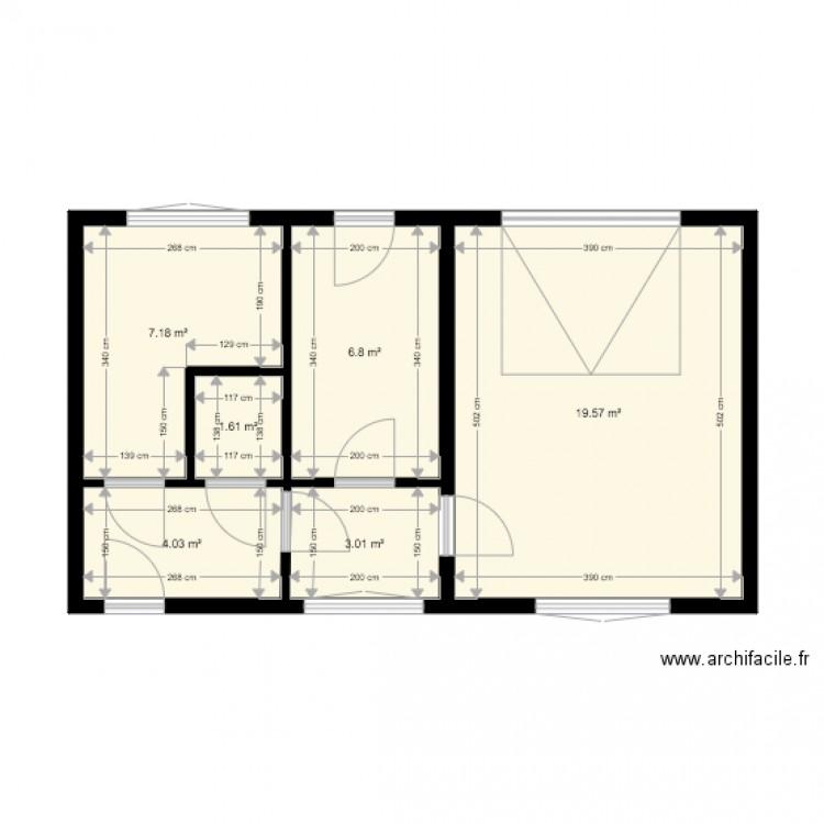 Test plan 6 pi ces 42 m2 dessin par deejay ben for Piscine 42 exam