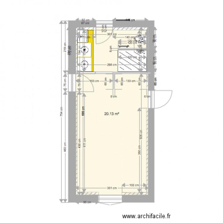 salle de sport v2 plan 1 pi ce 20 m2 dessin par 1501aure. Black Bedroom Furniture Sets. Home Design Ideas