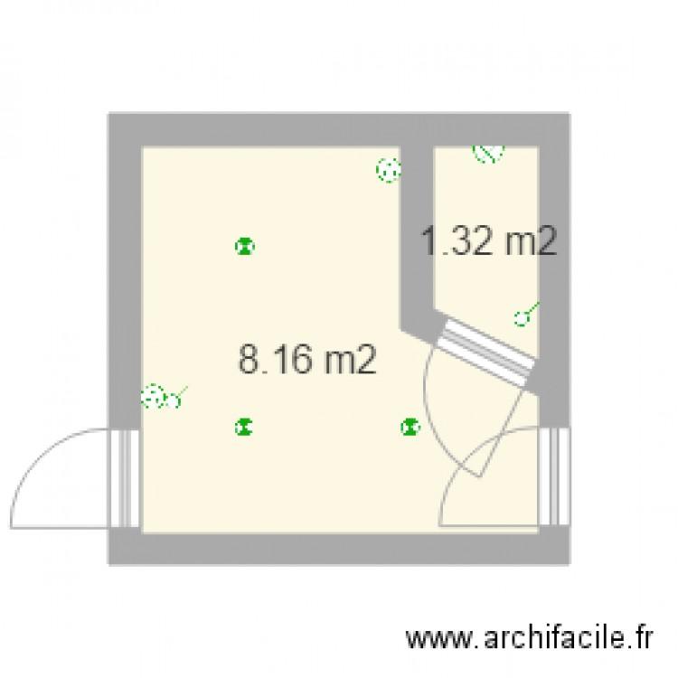 R bureau plan 2 pi ces 9 m2 dessin par sebastopol32 for Nombre de m2 par personne bureau