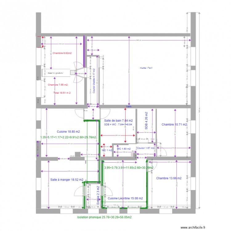 plan maison pour isolation phonique et thermique plan dessin par brv. Black Bedroom Furniture Sets. Home Design Ideas