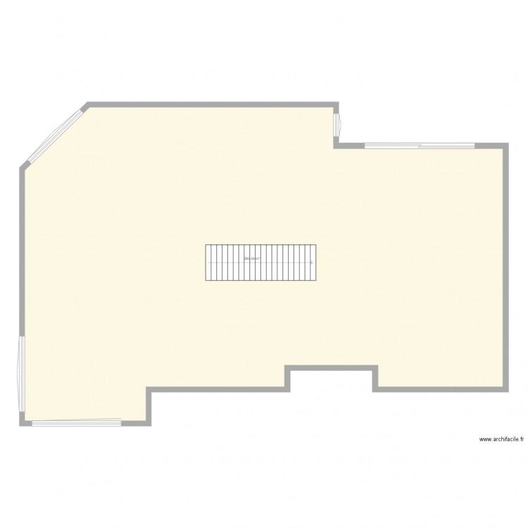 projet maison de reve plan 1 pi ce 260 m2 dessin par mathieuwinter. Black Bedroom Furniture Sets. Home Design Ideas