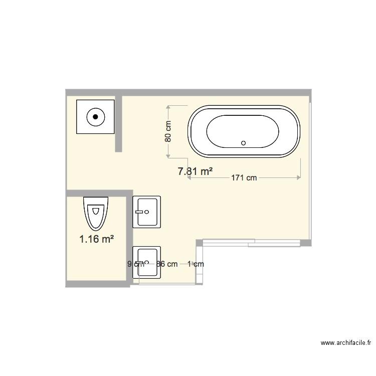 Salle De Bain Buanderie Plan 2 Pieces 9 M2 Dessine Par