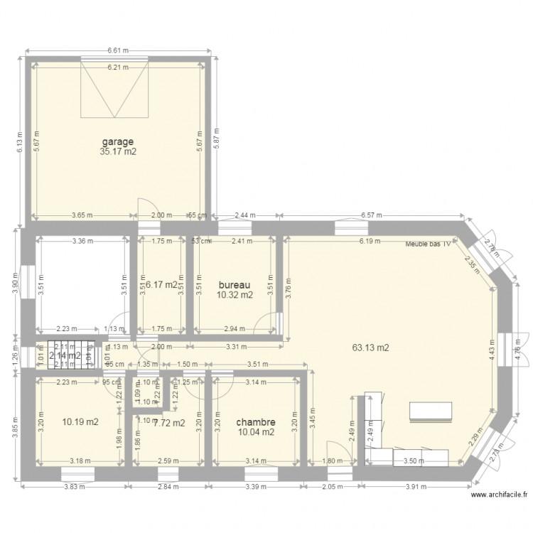 Vide sanitaire avec garage plan 8 pi ces 145 m2 dessin - Vide sanitaire cuisine ...
