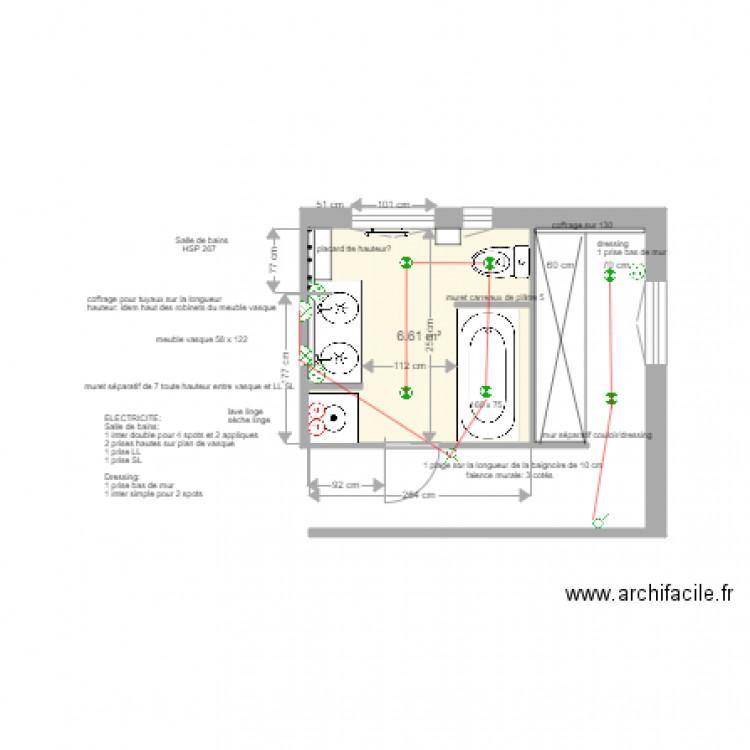 Plan électrique Salle De Bains Asnières 9 Juin 2017 Plan