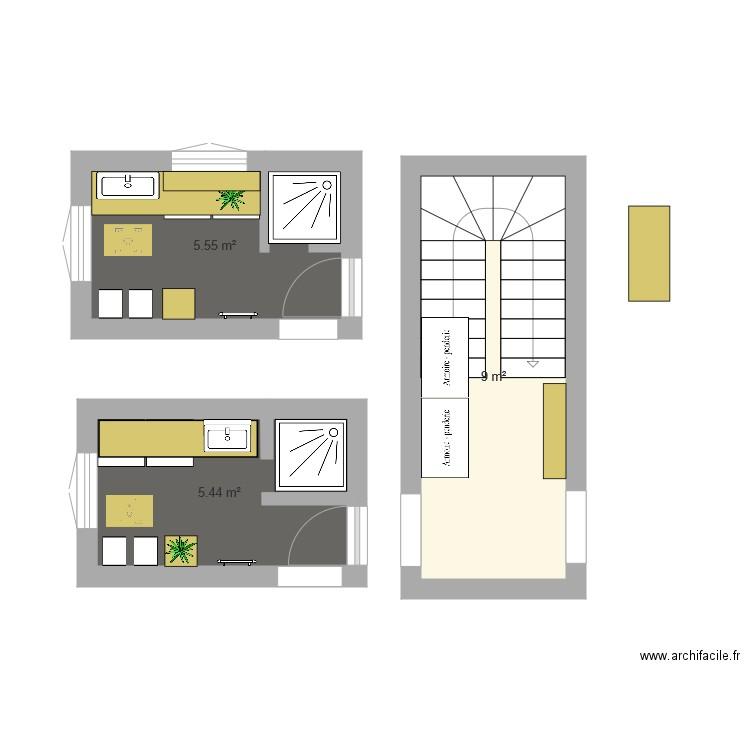 Sdb St Denis Plan 3 Pi Ces 12 M2 Dessin Par Nathalie027