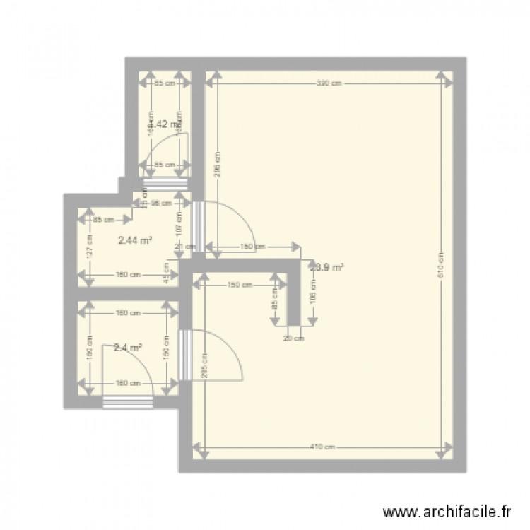 Postulka th odore bac 2 plan 4 pi ces 30 m2 dessin par for Bac pour piscine