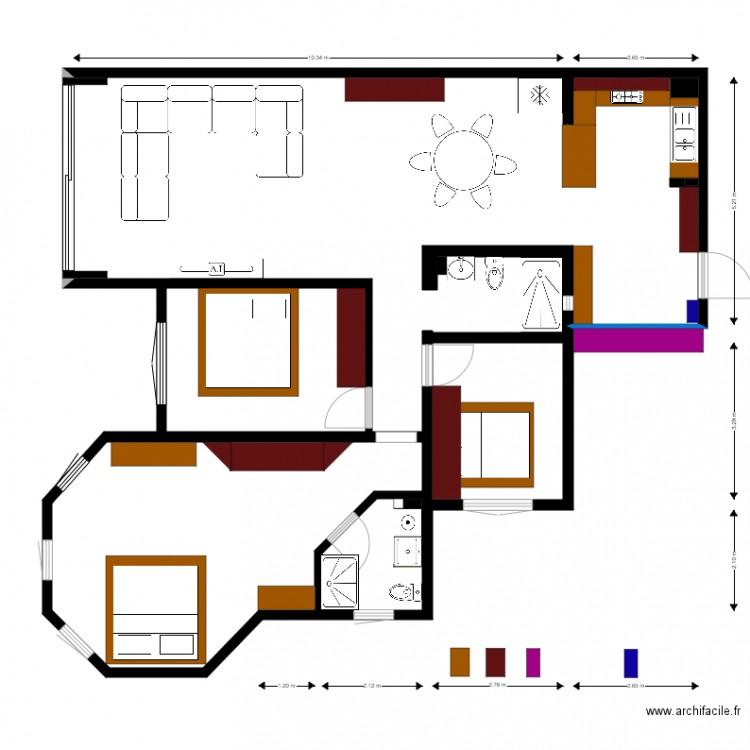 703 meubler plan 3 pi ces 117 m2 dessin par seahawk - Commentaar meubler un loft ...