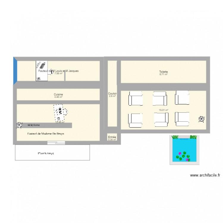 plan cabinet dentaire plan 7 pi ces 51 m2 dessin par mari24. Black Bedroom Furniture Sets. Home Design Ideas
