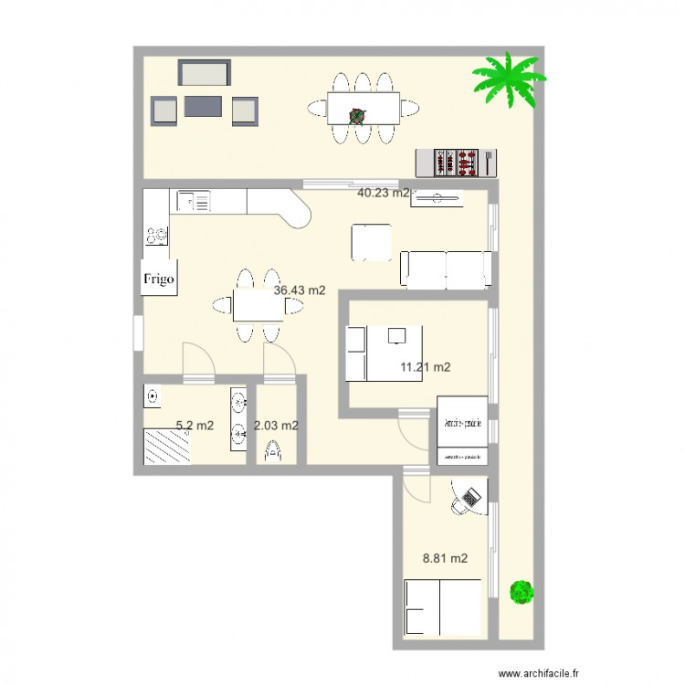dessiner un plan d appartement top appartement projet le. Black Bedroom Furniture Sets. Home Design Ideas
