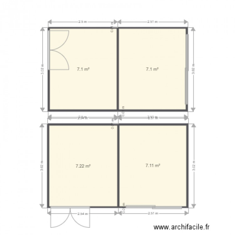 abri de jardin plan 4 pi ces 29 m2 dessin par piotin. Black Bedroom Furniture Sets. Home Design Ideas