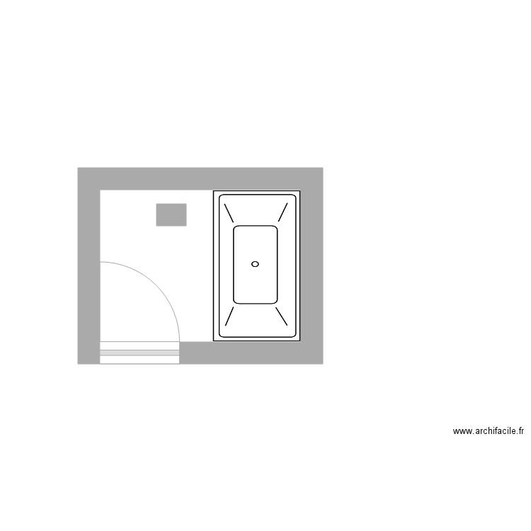 Salle de bain plan 1 pi ce 4 m2 dessin par nicoco59 for Du cote de chez vous salle de bain