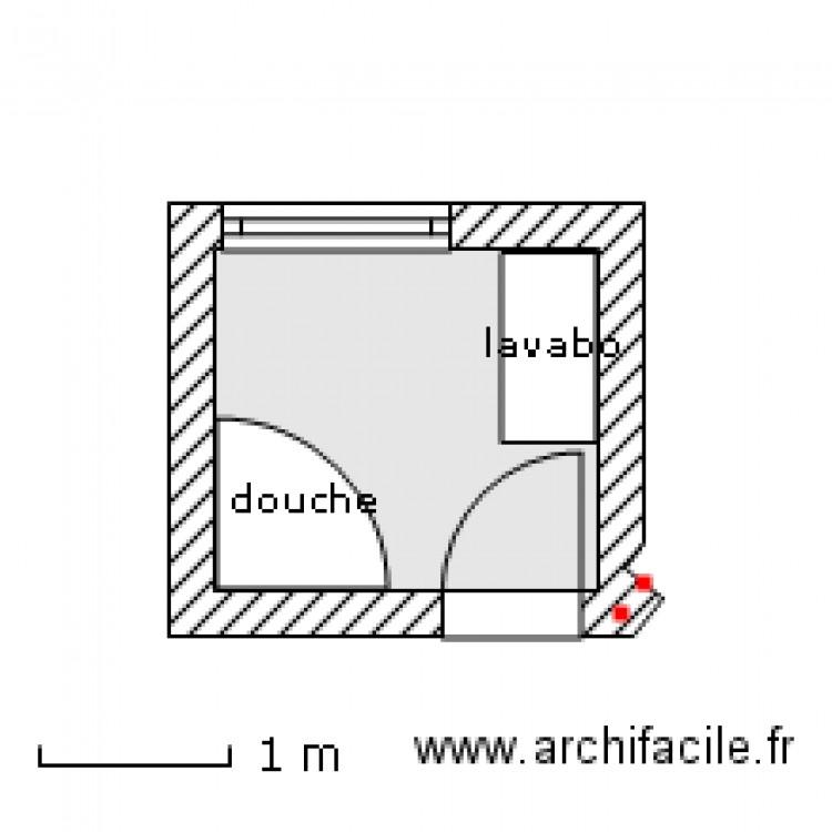 Salle de bain 1 plan 1 pi ce 4 m2 dessin par rodfog for Salle de bain 4 m2