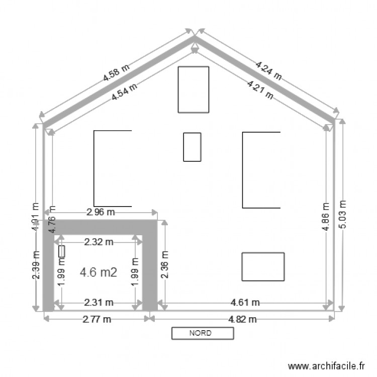 dp4 plan facade avant modifications plan 1 pi ce 5 m2 dessin par thom2777. Black Bedroom Furniture Sets. Home Design Ideas
