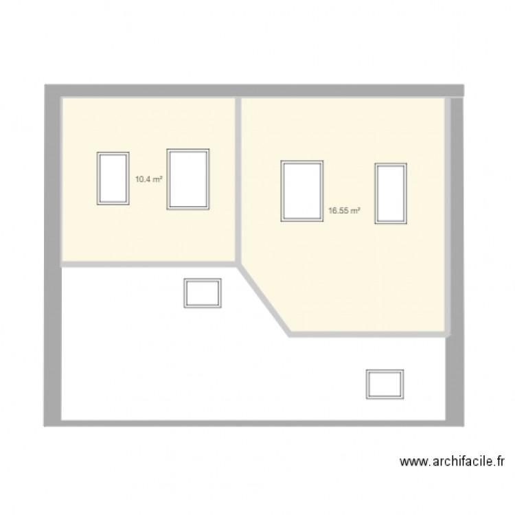 am nagement combles plan 2 pi ces 27 m2 dessin par david bailly. Black Bedroom Furniture Sets. Home Design Ideas