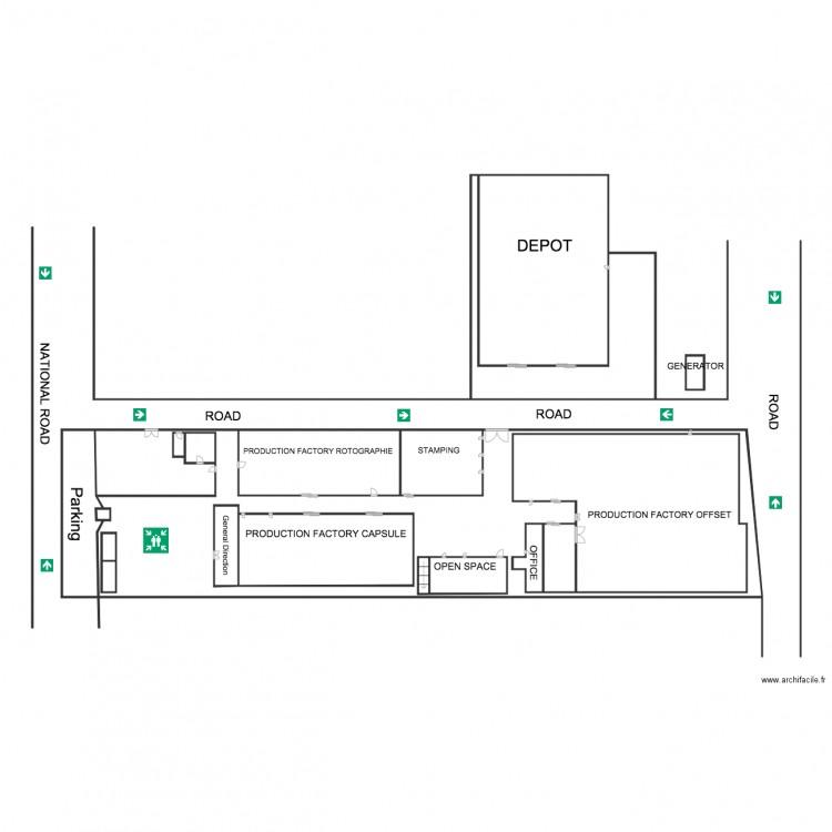 Plan bekoko sans fenetre 1 plan 18 pi ces 195 m2 dessin for Fenetre plan