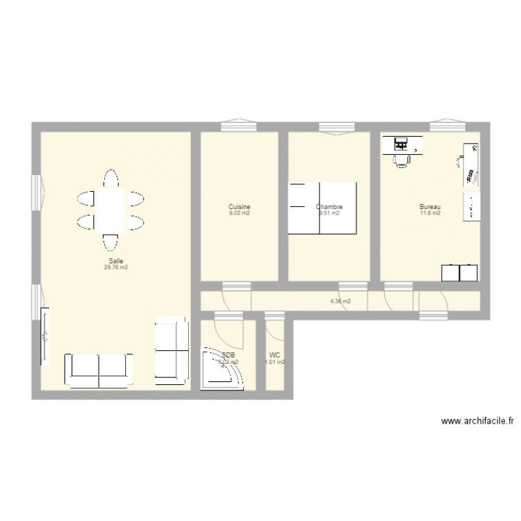 plan appartement 67 m2