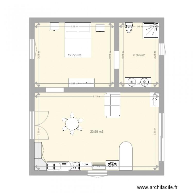 Plan Maison 8 Plan 3 Pi Ces 43 M2 Dessin Par Jeff1954