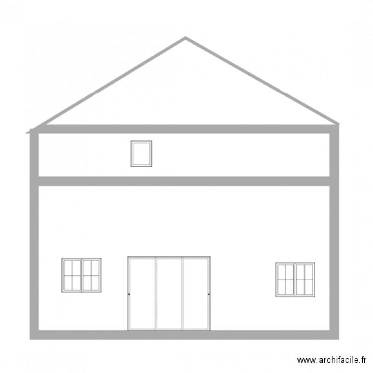 facade e plan 1 pi ce 36 m2 dessin par dentdelait. Black Bedroom Furniture Sets. Home Design Ideas
