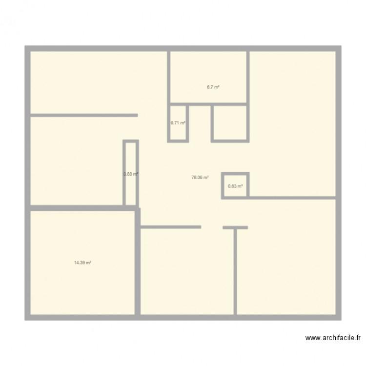 Croquis Pièces Maison : Croquis er etage plan pièces m dessiné par
